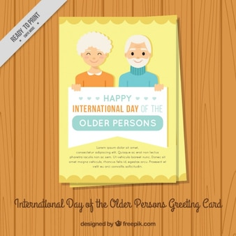 Day of the older persons greeting card