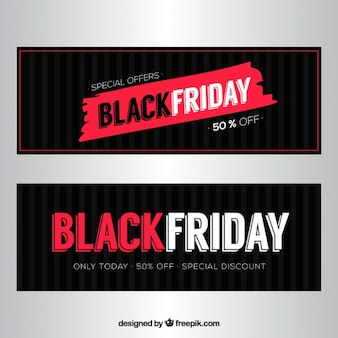 Deals black friday banners