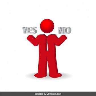 Decision businessman icon