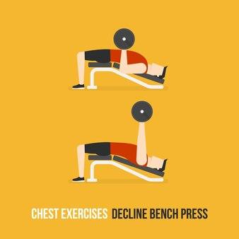 Decline bench press demostration