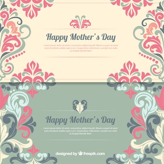 Decorated Happy Mother's Day banners