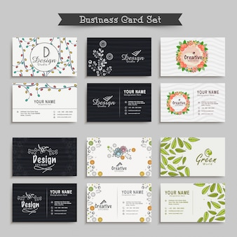 Decoration blank business card template workshop