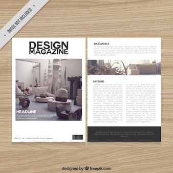 Decoration magazine template