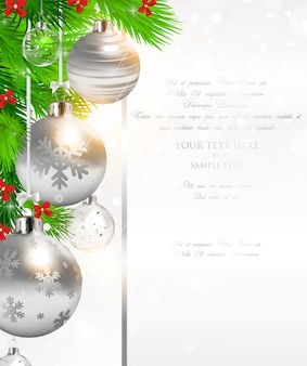Decoration ornament bauble backdrop year