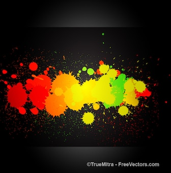 Decorative abstract paint splashes banners vector set