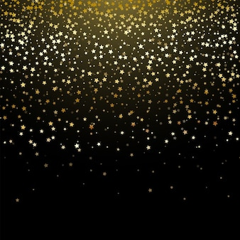 Decorative background of gold star confetti