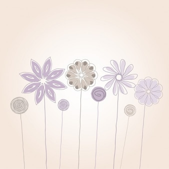Decorative background of hand drawn flowers