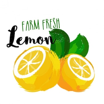 Decorative background of lemons
