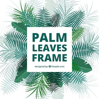 Decorative background of palm leaves