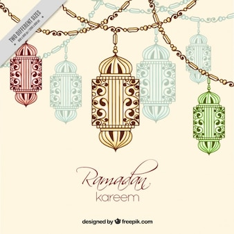 Decorative background of ramadan
