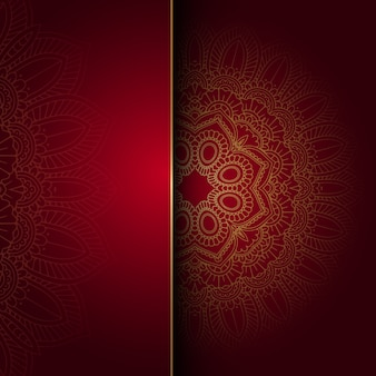 Decorative background with a mandala design