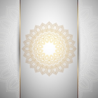 Decorative background with an ornamental mandala design