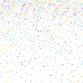 Decorative background with falling confetti