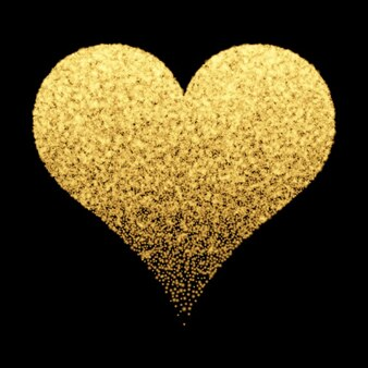 Decorative background with golden heart