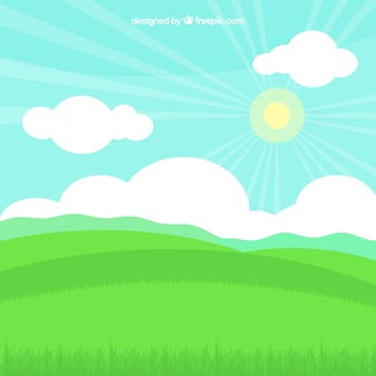Decorative background with grass field