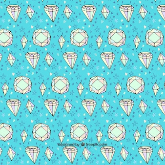 Decorative background with hand-drawn diamonds