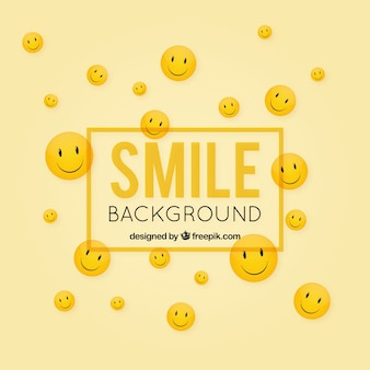 Decorative background with happy faces