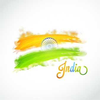 Decorative background with indian flag and dots