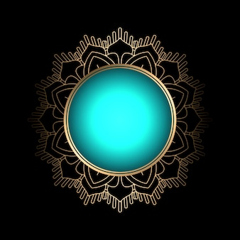 Decorative background with mandala style frame