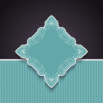 Decorative background with ornamental badge