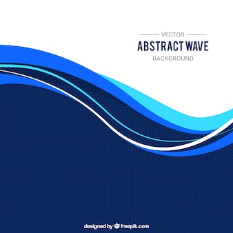 Decorative background with wavy forms