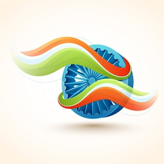 インドの共和国の日のための波状形状の装飾的な背景