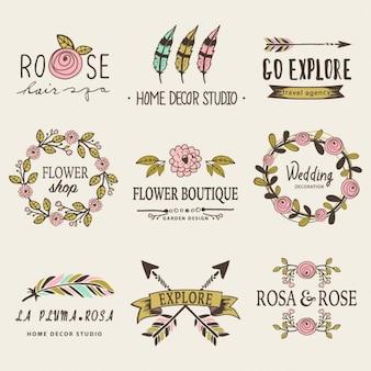 Decorative badges for weddings