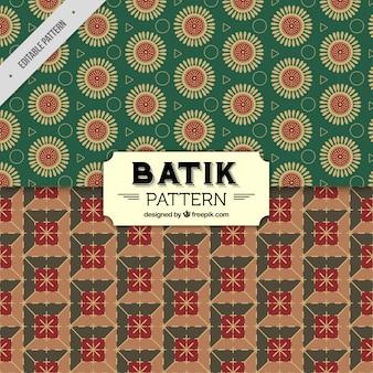 Decorative batik patterns in vintage style