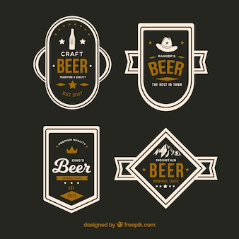 Decorative beer stickers with different kind of designs
