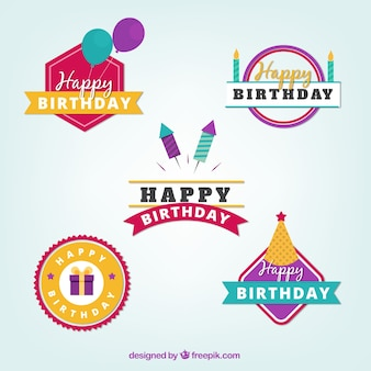 Decorative birthday sticker collection