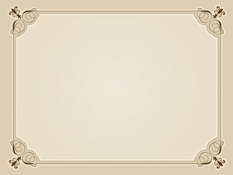 Decorative blank certificate