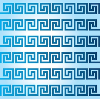 Decorative blue borders
