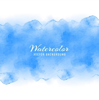Decorative blue watercolor background design