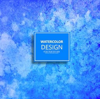 Decorative blue watercolor background