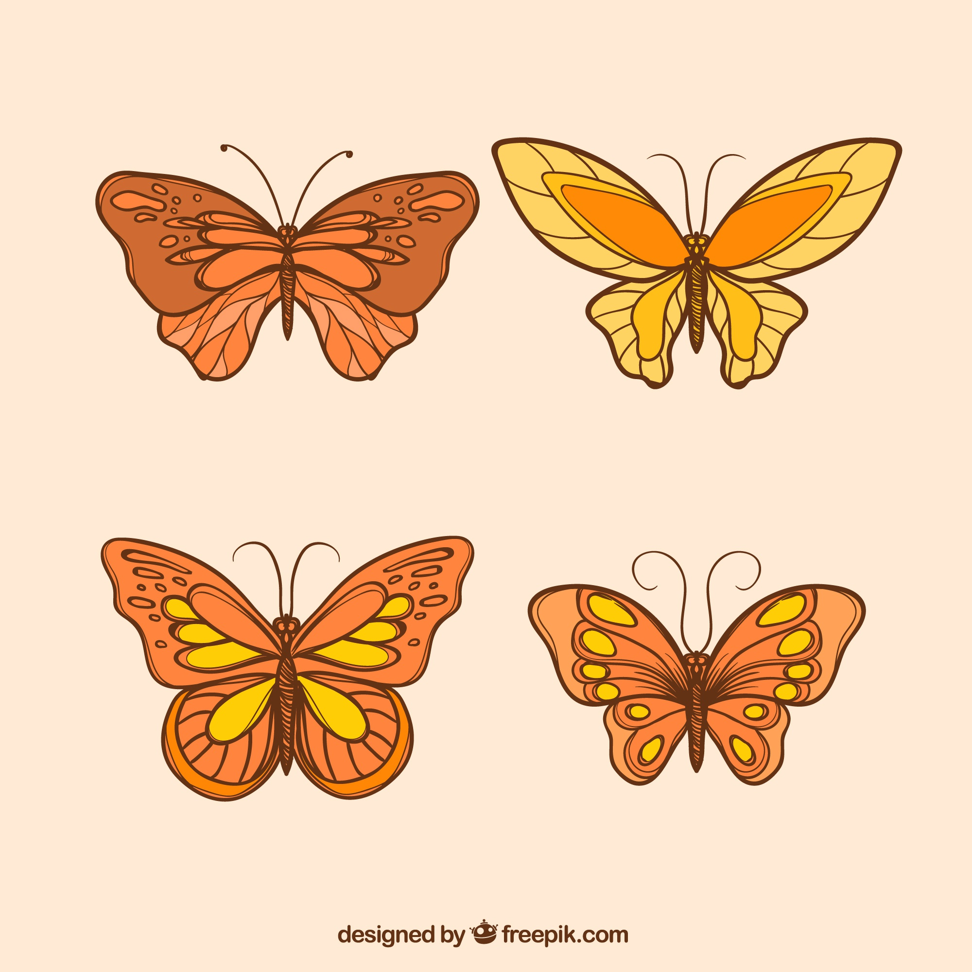 Decorative butterflies with different designs