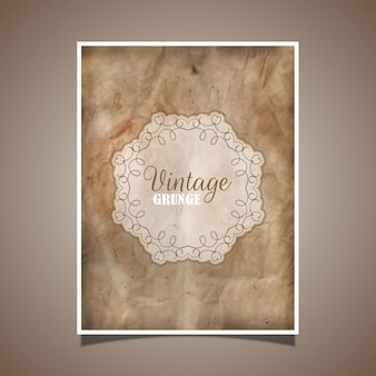 Decorative card in vintage style