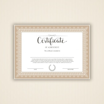 Decorative certificate or diploma