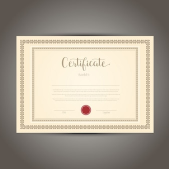 Decorative certificate with ornamental frame