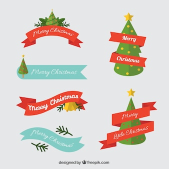 Decorative christmas ribbons