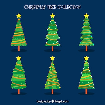 Decorative christmas trees collection