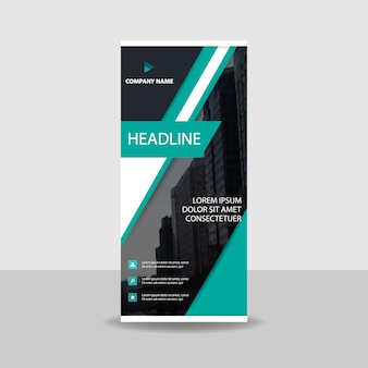 Decorative commercial roll up banner