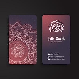 Decorative corporate card with ornaments
