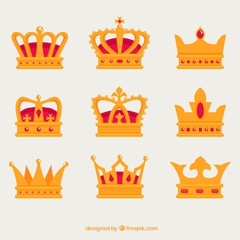 Decorative crowns with different kind of designs