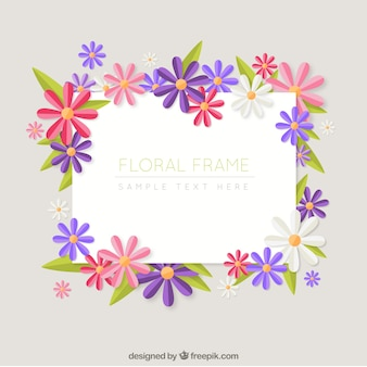 Decorative daisies frame