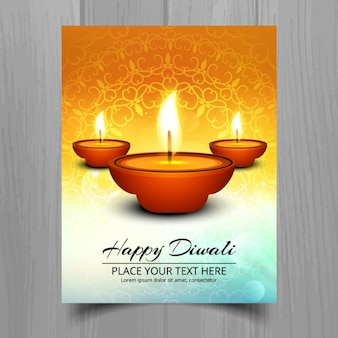 Decorative diwali greeting