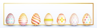 Decorative easter banner with eggs