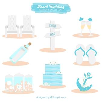 Decorative elements for beach wedding