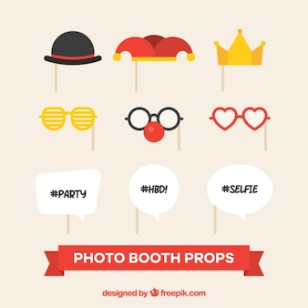 Decorative elements for party photo booth