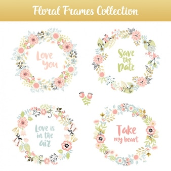 Decorative floral elements collection