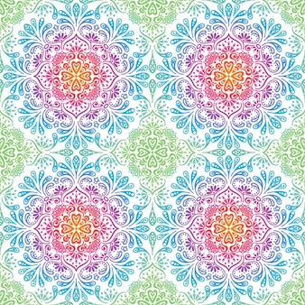 Decorative floral mosaic pattern